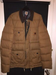 Very Rare Carhartt WIP Hamilton brown Large Jacket With Removable Hood
