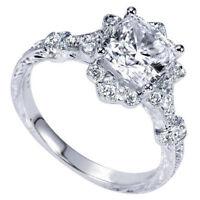 Women Girl Bling Finger Ring Flower Square Rhinestone Jewelry Gift CO
