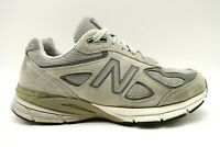 New Balance 990 V4 Gray Leather Lace Up Athletic Running Shoes Women's 8.5 D