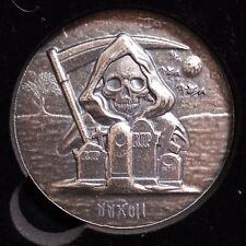 2017 5 oz Monarch Grim Reaper Round .999 pure Silver Bullion Low Mintage Rare