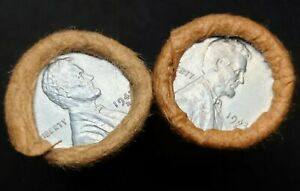 LOT OF TWO OBW LINCOLN WHEAT CENT ROLLS.  ( 1943D / 1943D ) + ( 1943S /  1943S )