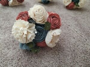 Sola Wood Flower Bouquets. Dusty Pink, Dusty Blue, White - Southern Blooms