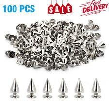 10mm Silver Spots Cone Screw Metal Studs Leathercraft Rivet Bullet Spikes Usa