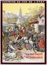 Affiche chemin de fer Etat - Bretagne Huelgoat