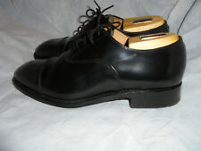 CHARLES HORRELL MEN'S BLACK LEATHER LACE UP TOE CAP SHOES  SIZE UK SIZE 9 EU 43