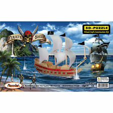 Pirate Ship 3D Jigsaw Puzzle Wood Craft Construction Kit 139 Pieces Age 9+