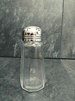 Vintage Silver Plated Salt/Pepper Shaker Crystal Glass 5""