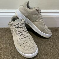 Nike Air Force 1 Flyknit String White Trainers Ladies Womens Mens UK Size 6.5