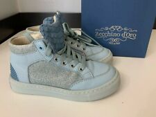 Zecchino Doro Blue Hi Top Boots Sneakers Size 25 Uk 8 Infant Girls Vgc
