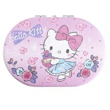 Sanrio Hello Kitty Double Sided Stainless steel Compact Mirror ship w/tracking#