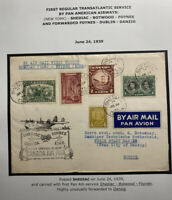 1939 Shediac Canada First Flight Airmail Cover To Danzig Via Foynes Ireland