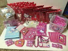 Vintage 57 Pc Lot Hello Kitty NOS Swim Ring Sticker Notepad CD Case Basket Etc++