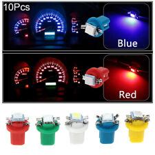 10Pcs B8.5D 509T B8.5 5050 LED 1 SMD T5 Lámpara Bombilla Luces de tablero de automóvil Medidor de Velocidad