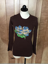 WOMEN'S ED HARDY LONG SLEEVE T-SHIRT-SIZE: XS
