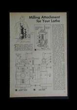 Lathe Milling Attachment Howto Build Plans Compound Rest Mount