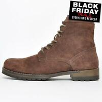 Red Tape Toft Mens Military Combat Suede Leather Classic 6 Inch Lace Up Boots