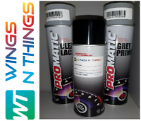 Aerosol Spray Paint 400ML + PRIMER + LACQUER KIT FOR AUDI LY7C NARDO GREY