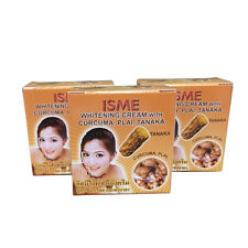 3x 3g ISME WHITENING CREAM WITH CURCUMA PLAI TANAKA THANAKA THAI HERBAL