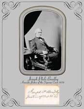 Associate Justice US Supreme Court Joseph Philo Bradley Photo & Autograph