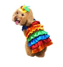 Carnival Flamenco Dancer 2 Pc Halloween Dog Pet Costume Large (New) - FREE SHIP