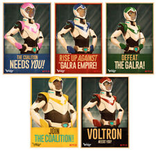 VOLTRON LEGENDARY DEFENDER NYCC 17 EXCLUSIVE PALDIN POSTER SET OF 5 BNIB
