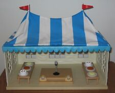 Calico Critters Wedding Marquee tent, stage, speakers, trestle tables & cake