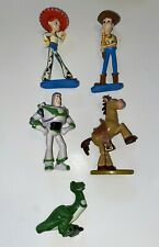 DISNEY TOY STORY Lot 5 PVC figurines cake toppers Woody Jessie Buzz Rex Bullseye