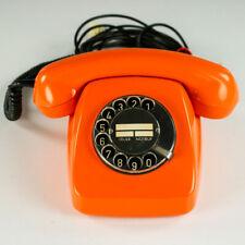 Post Telefon FeTAp611-2a orange Wählscheibe Vintage 70er Festnetz