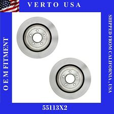 Rear Brake Rotors For Cadillac CTS 2006-2007 Excluded V Model, Sport Suspension
