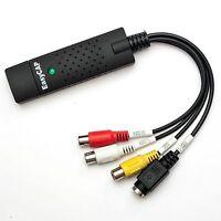 New EasyCAP USB 2.0 TV DVD VHS Video Audio AV Capture DC60 WIN7 WIN8