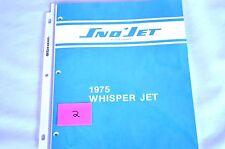 1975 Vintage Sno-Jet Snowmobile WISPER JET Parts Manual - (Original)(2)