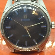 Vintage Stainless Steel Tissot Seastar Blue Face Men's Watch