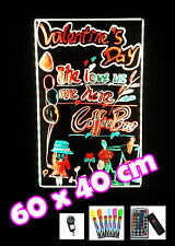 60x40cm LED Advertising Writing Board Neon Promotion Sign Signage Billboard