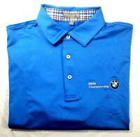 Peter Millar Summer Comfort BMW Championship Men's S/S Polo Golf Shirt Sz. L