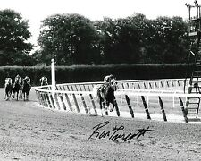 RON TURCOTTE SECRETARIAT - 1973 BELMONT STAKES SIGNED 8X10 TRIPLE CROWN #3