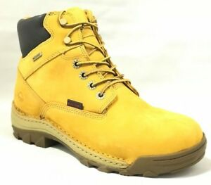 """Wolverine Work Boots Mens Dublin Waterproof Insulated 6"""" W04780 Wheat Leather"""