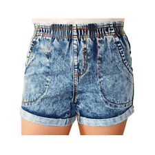 WAKEE STONE WASH BLUE PULL ON SHORTS. SIZE 6-16