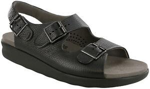 SAS Bravo Sandal Black Leather 9.5 Medium, Men's Shoes