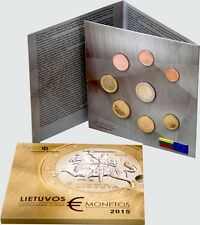 Official BU set of uncirculated LITHUANIA Euro coins 2015 in special folder