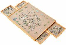 """Jumbl JUMPUZ2735 27"""" X 35"""" Wooden Jigsaw Puzzle Board - Brown"""