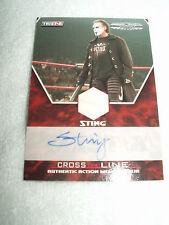 Wwe wrestling autographe & relic costume matériau carte sting m-sa 96/99