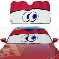 Cartoon Big Eye Car Windshield Sunshade Cover Aluminium Foil Sun Shade Sun Visor