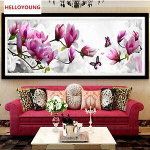 5D Diamond Painting Embroidery Butterflies Play Magnolia Cross Stitch Kits Paint