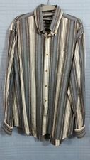 d88562ef Ivy Crew Men's Large Gray Blue striped long sleeve button up oxford shirt  #806