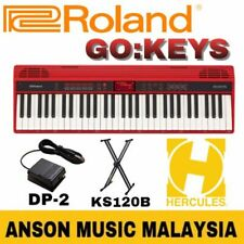 Roland GO:KEYS Music Creation Keyboard w/Roland DP-2 Pedal&Hercules KS120B Stand