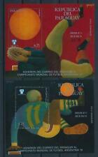 [105608] Paraguay 1977 World cup soccer football Argentina 2 Souv. Sheets MNH
