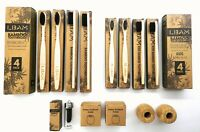 Bamboo Toothbrush   Medium Bristles   Kids   Adult   Dental Floss   Holder   Set