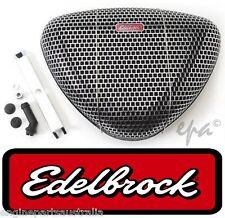EDELBROCK PRO-FLO SERIES TRIANGLE AIR CLEANER CHROME STEEL MESH FINISH ED1002