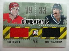 Marty McSorley Tim Hunter 2012/13 Combatants Game Jersey Card LA Kings Flames
