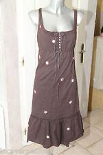 bonito vestido marrón IKKS talla 34 excelente estado satisfecho/reembolsado